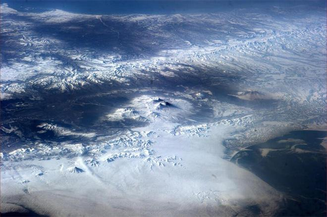 Mountains of Kamchatka (Photo & Caption courtesy Rick Mastracchio (@AstroRM) and NASA)