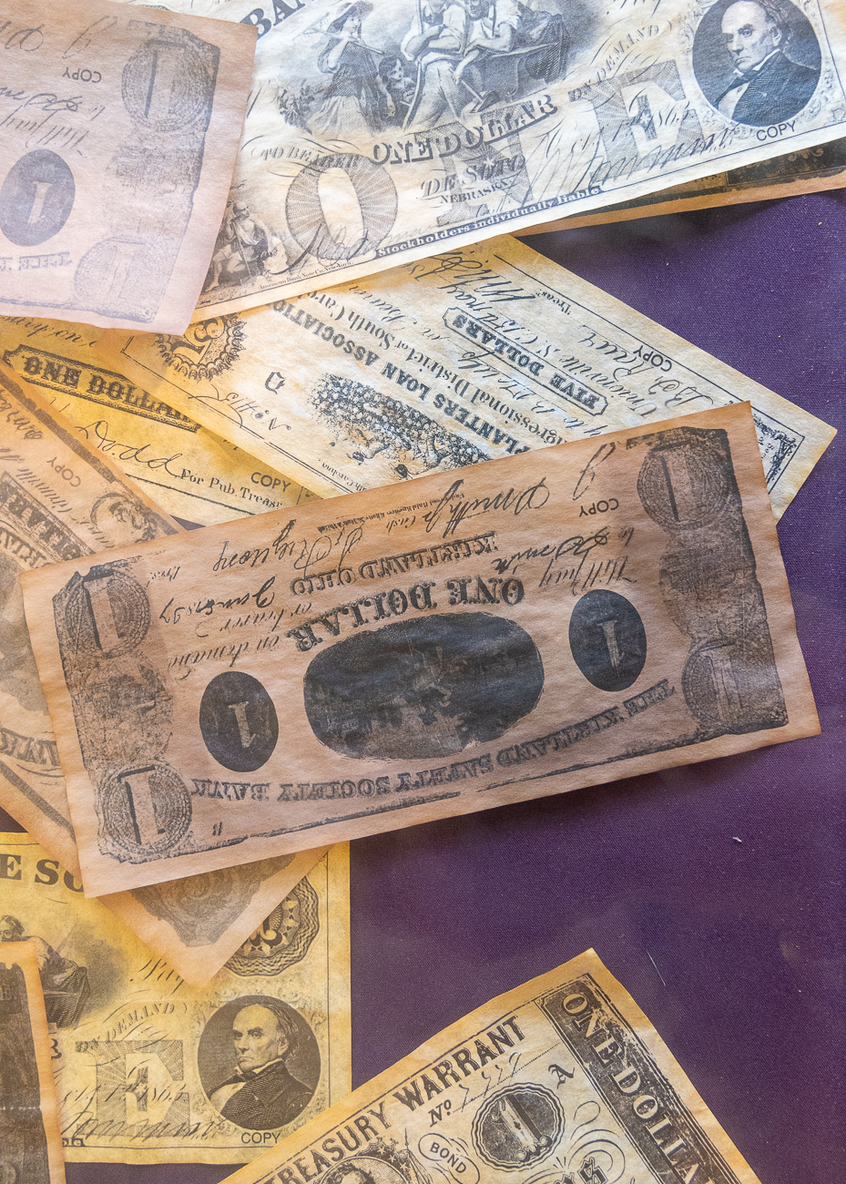 Old money inside the general store{ }/ Image: Phil Armstrong, Cincinnati Refined // Published: 12.5.19