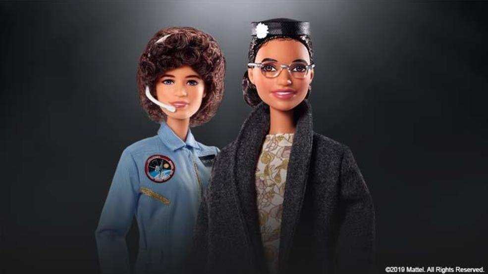 Barbie launches new 'Inspiring Women' dolls honoring Rosa Parks, Sally Ride