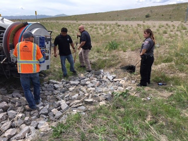 German Shepherd rescued from drainage pipe (Photo: West Jordan Animal Shelter)