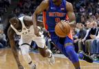 Detroit Pistons' Langston Galloway (9) drives past Milwaukee Bucks' Tony Snell during the first half of a game Wednesday, Nov. 15, 2017, in Milwaukee.