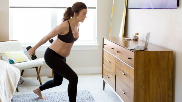Keeping up a fitness routine is important during pregnancy but it's also a time when women may feel unsure of what modifications are needed to ensure moves are safe.{ }(Image: Courtesy The Bloom Method)