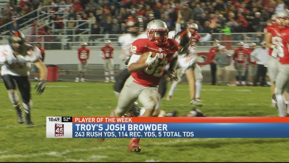 Donatos POTW - Week 11: Troy's Josh Browder