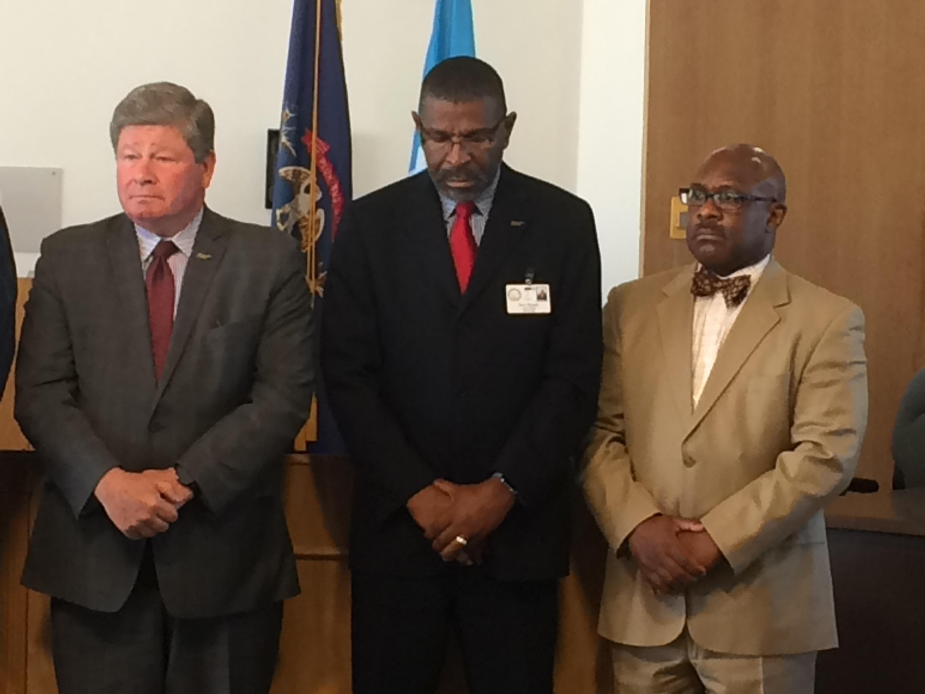 State, county and local officials were on hand for the announcement. (Mike Horne - NBC25/FOX66 News)