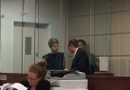 Taylor Kraig is arraigned in a Multnomah County Courtroom Wednesday - Photo from KATU's Matt Johnson.jpg