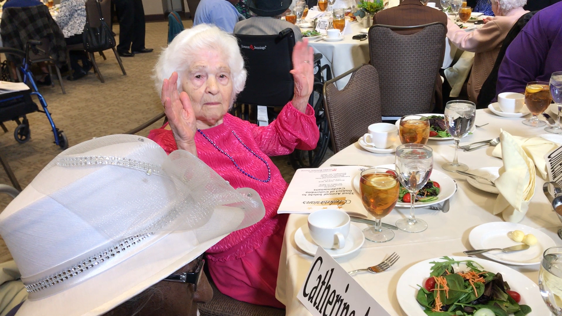 D.C's oldest and wisest citizens were treated to lunch in celebration of their longevity. (Caroline Patrickis/ABC7)