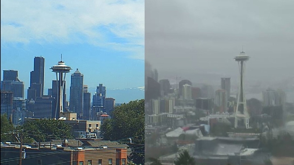 Poll: Seattleites narrowly prefer sunny, hot weather to rainy, windy weather