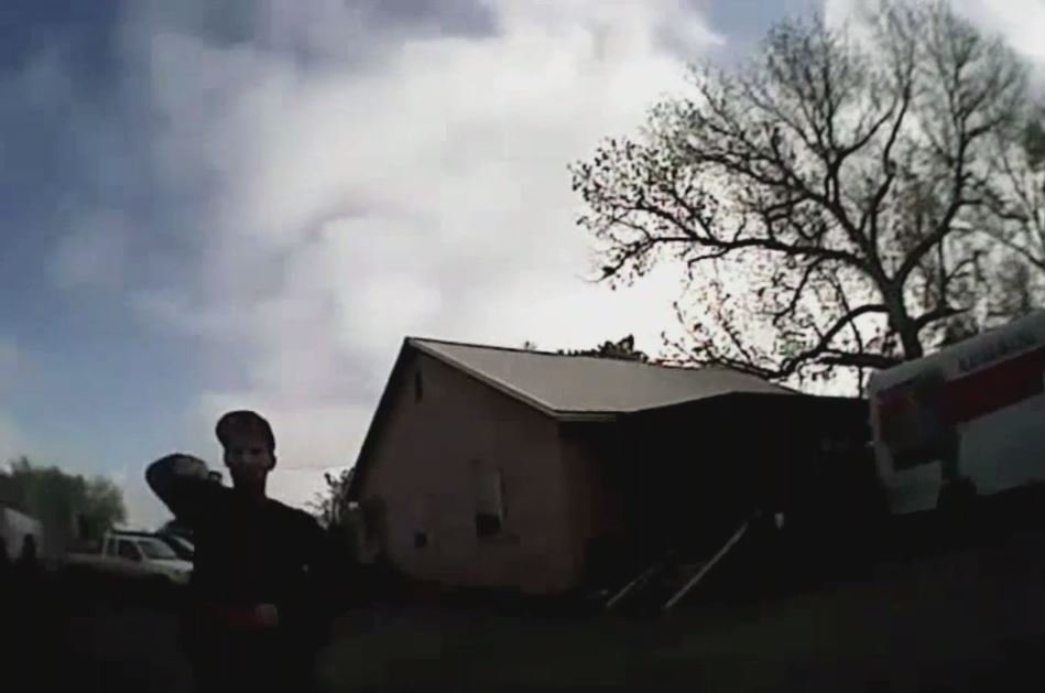 Body camera footage shows the moments prior to a Logan County Sheriff's Deputy being shot April 19 east of Mulhall. (Logan County Sheriff's Office)
