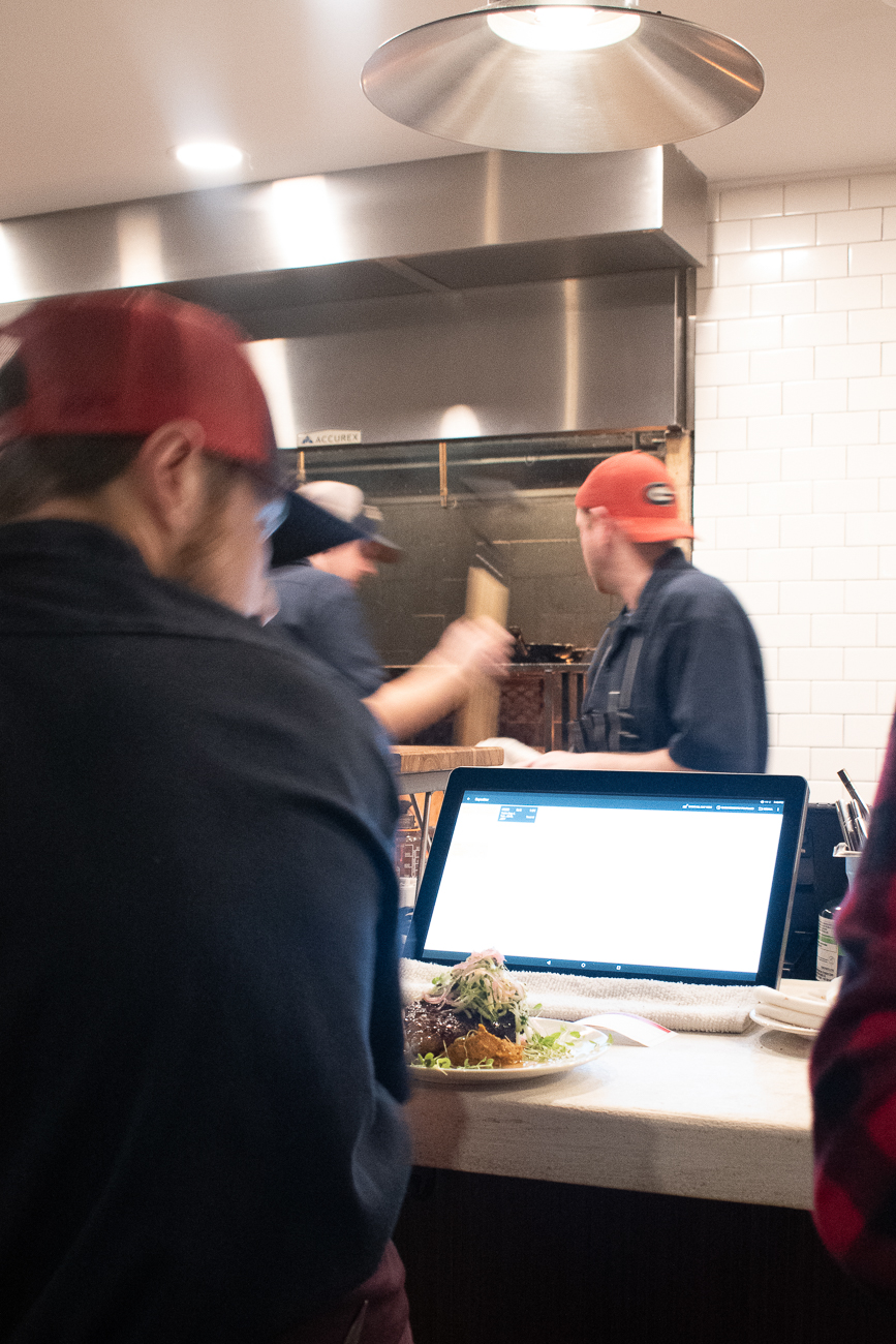 Karrikin's short-order style kitchen stays busy throughout the evening, led by Executive Chef Chris Davis. / Image: Matt Groves // Published: 12.8.19