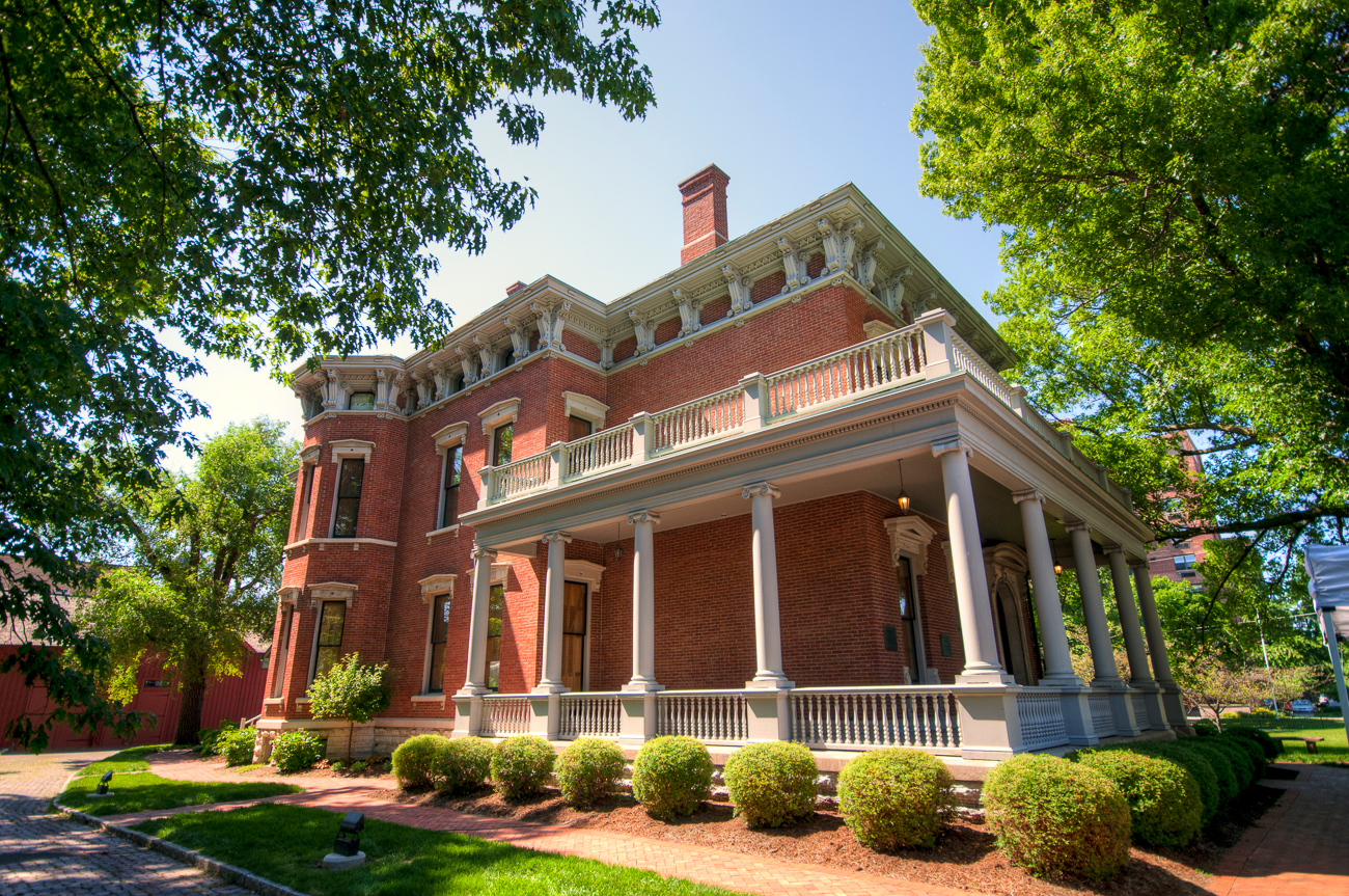 Benjamin and Caroline Harrison built their 16-room Italianate Victorian home in 1875 where the 23rd U.S. President lived until he passed in 1901, with the exception of his U.S. Senate and presidential years. The home is located just two hours west of Cincinnati in Indianapolis, Indiana's Old Northside neighborhood. ADDRESS:{ }1230 N Delaware St, Indianapolis, IN 46202 / Image: Visit Indy // Published: 10.23.20