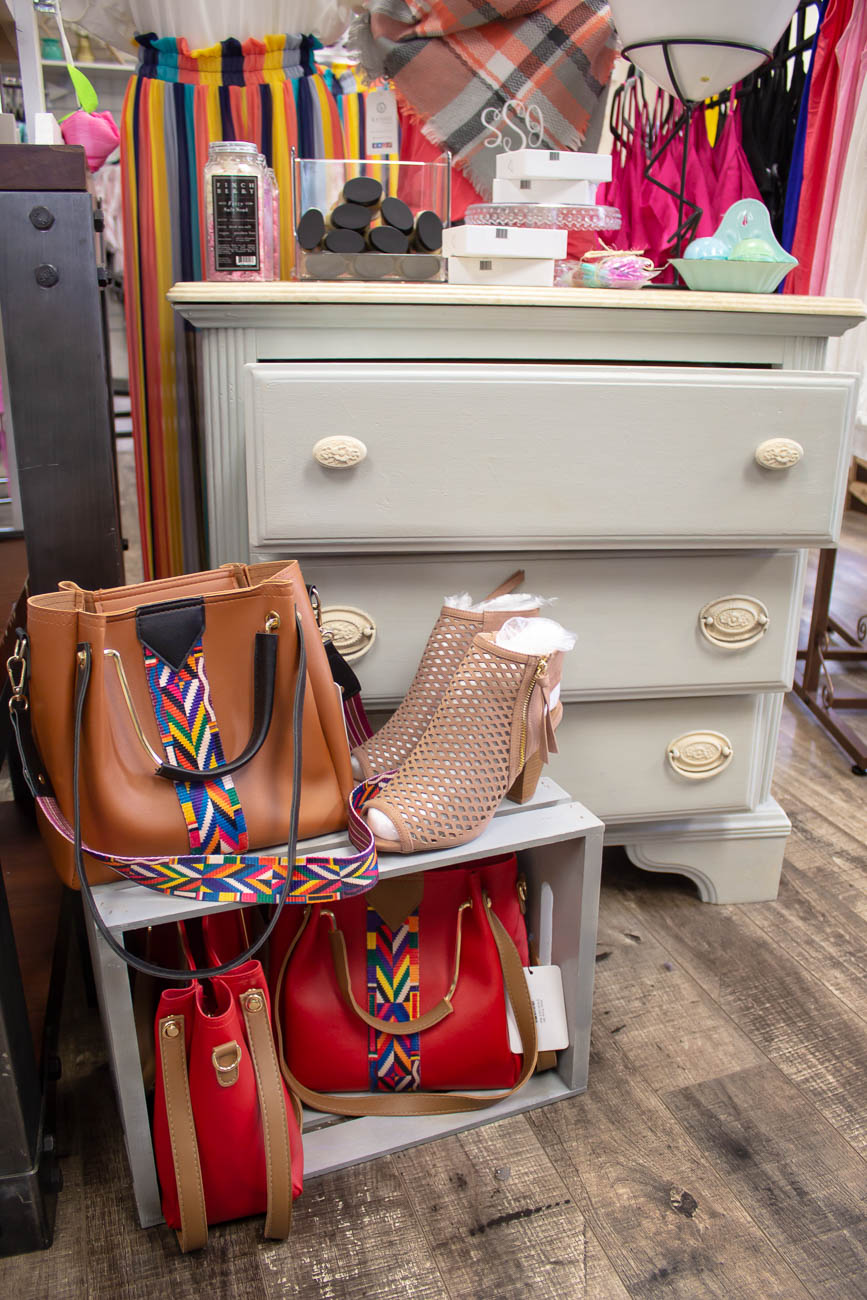 <p>When Jené isn't selling outfits, she's refurbishing furniture like her parents, who sell restored antique pieces out of their Bellevue shop My Mother's Daughter. A lot of the display dressers in KYOOT are ones she painted. / Image: Katie Robinson, Cincinnati Refined // Published: 5.8.19</p>