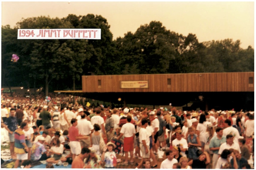 The crowd for Jimmy Buffet in 1984. (Courtesy of Merriwether Post Pavilion)