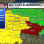 Severe storms remain a risk through Tuesday night as Tornado Watch issued