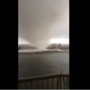 VIDEO: Water spout rips roof off building in Fort Walton Beach
