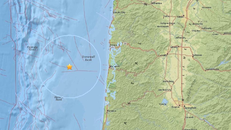3 8 Magnitude Earthquake Shakes Off Oregon Coast Kmtr