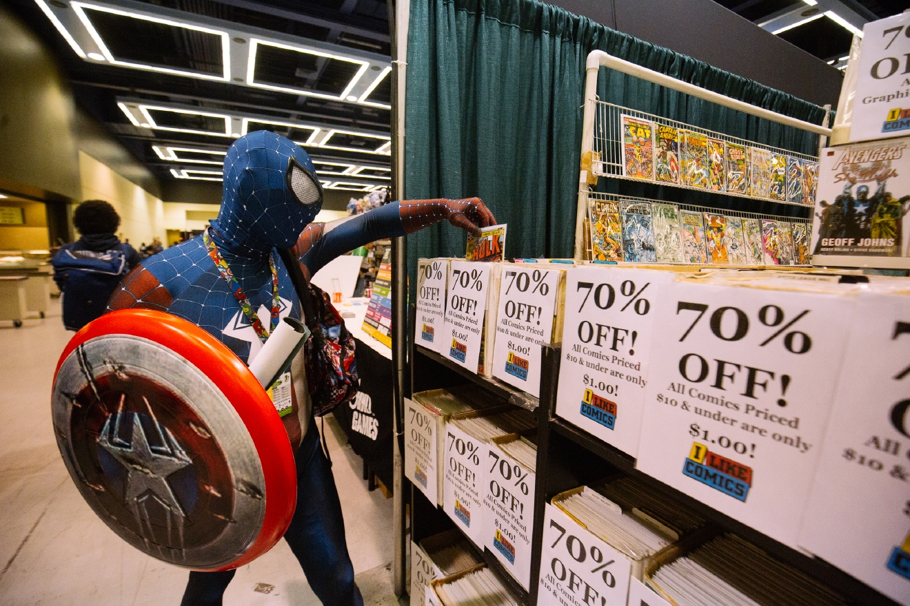 It's here! The premier comic book and pop culture convention in the Northwest is happening this weekend at the Washington State Convention Center in downtown Seattle. This year ECCC is four days instead of three, running April 7-10, 2016. Hundreds of people swarm the city dressed as their favorite characters to see panels, exhibitors and more. Here's our gallery from the first day of this crazy convention. (Image: Joshua Lewis / Seattle Refined)