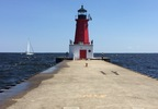The Menominee North Pier Light is seen, July 27, 2017.