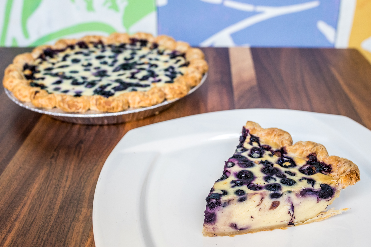 <p>Blueberry Pancake Pie: buttermilk batter & blueberries / Image: Catherine Viox // Published: 9.16.20</p>