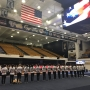Army Sergeant surprises younger sister at GW gymnastics meet