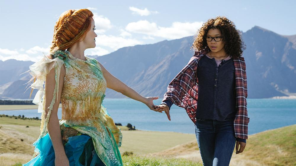 Reese Witherspoon is Mrs. Whatsit and Storm Reid is Meg Murry in A Wrinkle in Time (Photo courtesy Disney Studios).