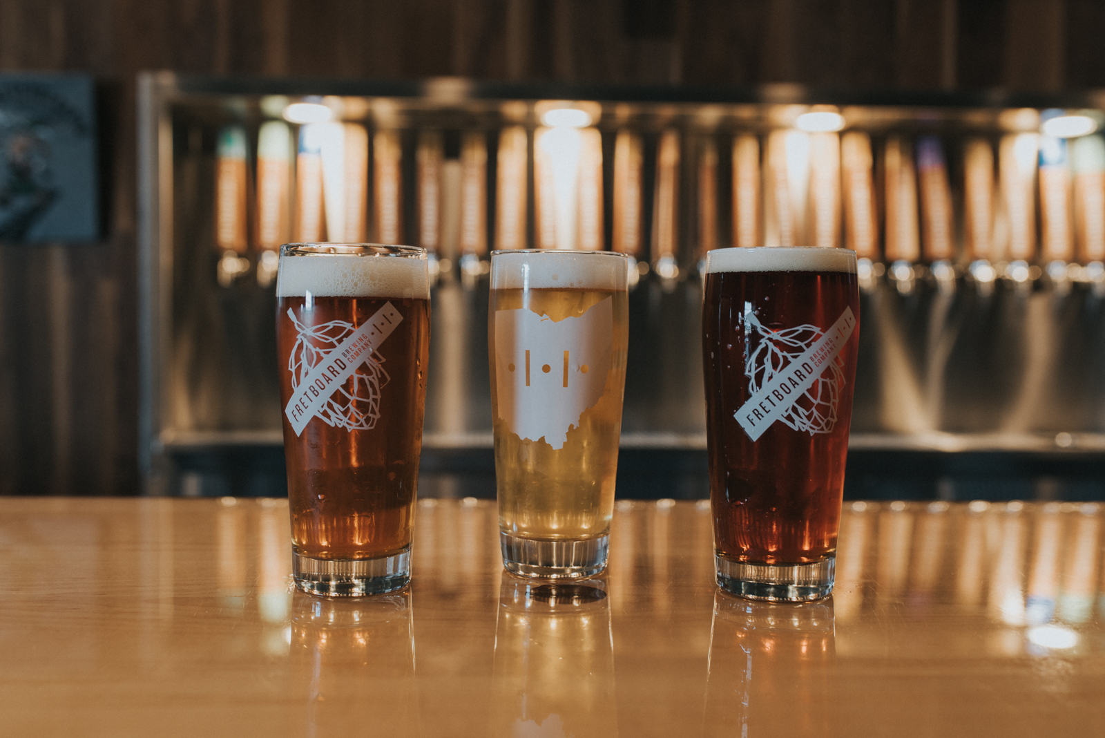 <p>Improv (IPA), Centerfield (India Session Pilsner), and Trey (American Amber) / Image: Brianna Long // Published 4.13.18</p>