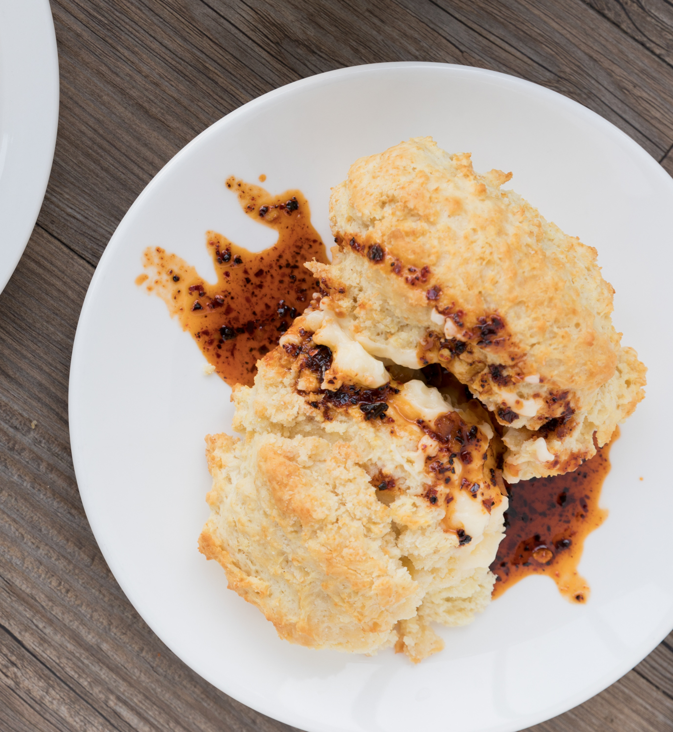 Biscuit with butter and chorizo honey glaze{ }/ Image: Marlene Rounds // Published: 1.6.19