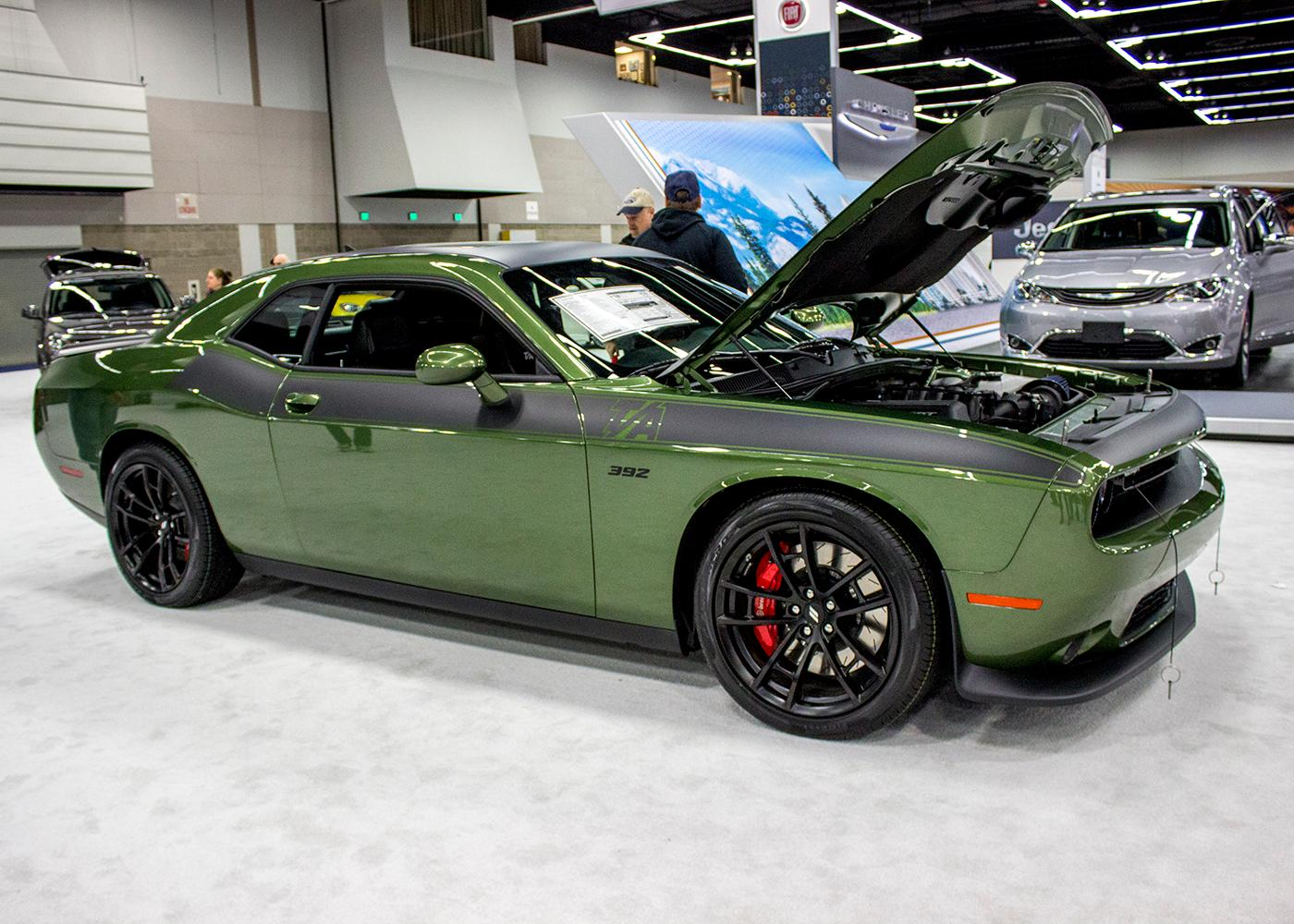 Dodge Challenger T/A 392 - The Portland International Auto Show began at the Oregon Convention Center on Jan. 25, 2018. The event drew prospective buyers and others who enjoyed looking at and comparing vehicles. Photo by Amanda Butt