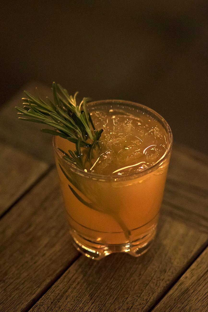 Fireside: rosemary infused vodka and grapefruit juice / Image: Allison McAdams // Published: 12.17.18