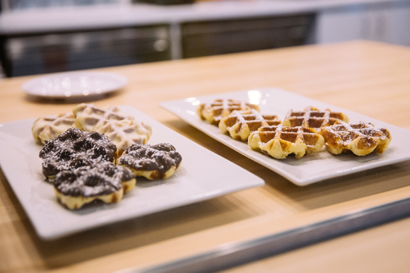 Last month, tiny wonderful Sweet Iron Waffles opened up a second, larger location on Capitol Hill. And we all rejoiced. The yummy cafe features authentic Liège Belgian waffles for every meal of the day (yup: breakfast, lunch, dinner, brunch, etc). You can even grab them by the dozen and take 'em home! If you eat in-house, you can partake in the mimosa bar, and top your waffs with housemade jams sauces and compotes. Sweet Iron's Capitol Hill location is open Monday–Thursday 7 a.m.–9 p.m., Friday 7 a.m.–midnight, Saturday 8 a.m.–midnight Sunday 8 a.m.–8 p.m. (Image: Joshua Lewis / Seattle Refined)
