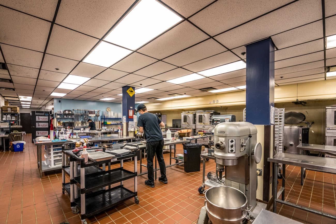 CovWorx has plans to open an event space on the top floor. The basement is home to a full commercial kitchen, which is used by local catering company The Delish Dish as well as Kickstart Kitchen—an incubator kitchen for up-and-coming culinary masterminds. / Image: Catherine Viox // Published: 10.5.20