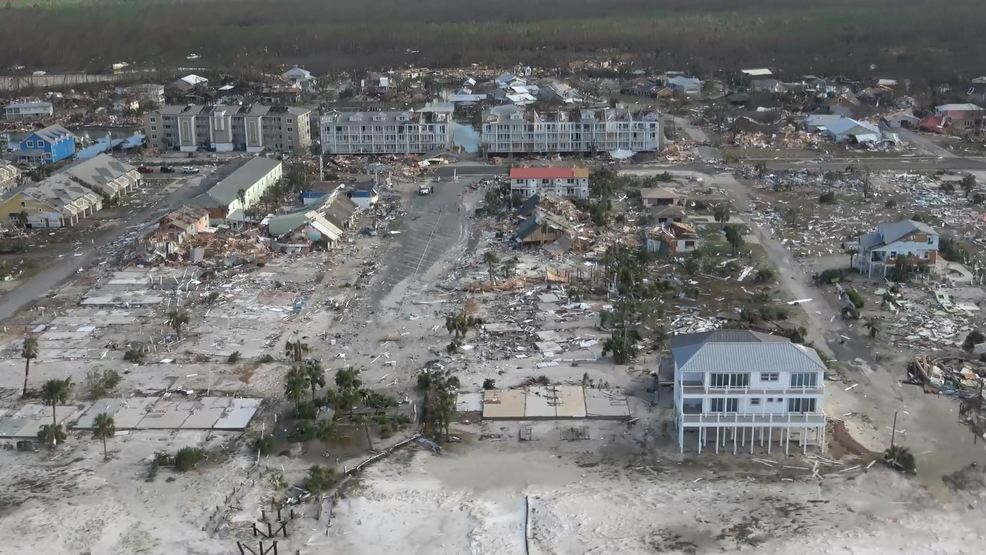 Mexico Beach, Florida devastated by Hurricane Michael