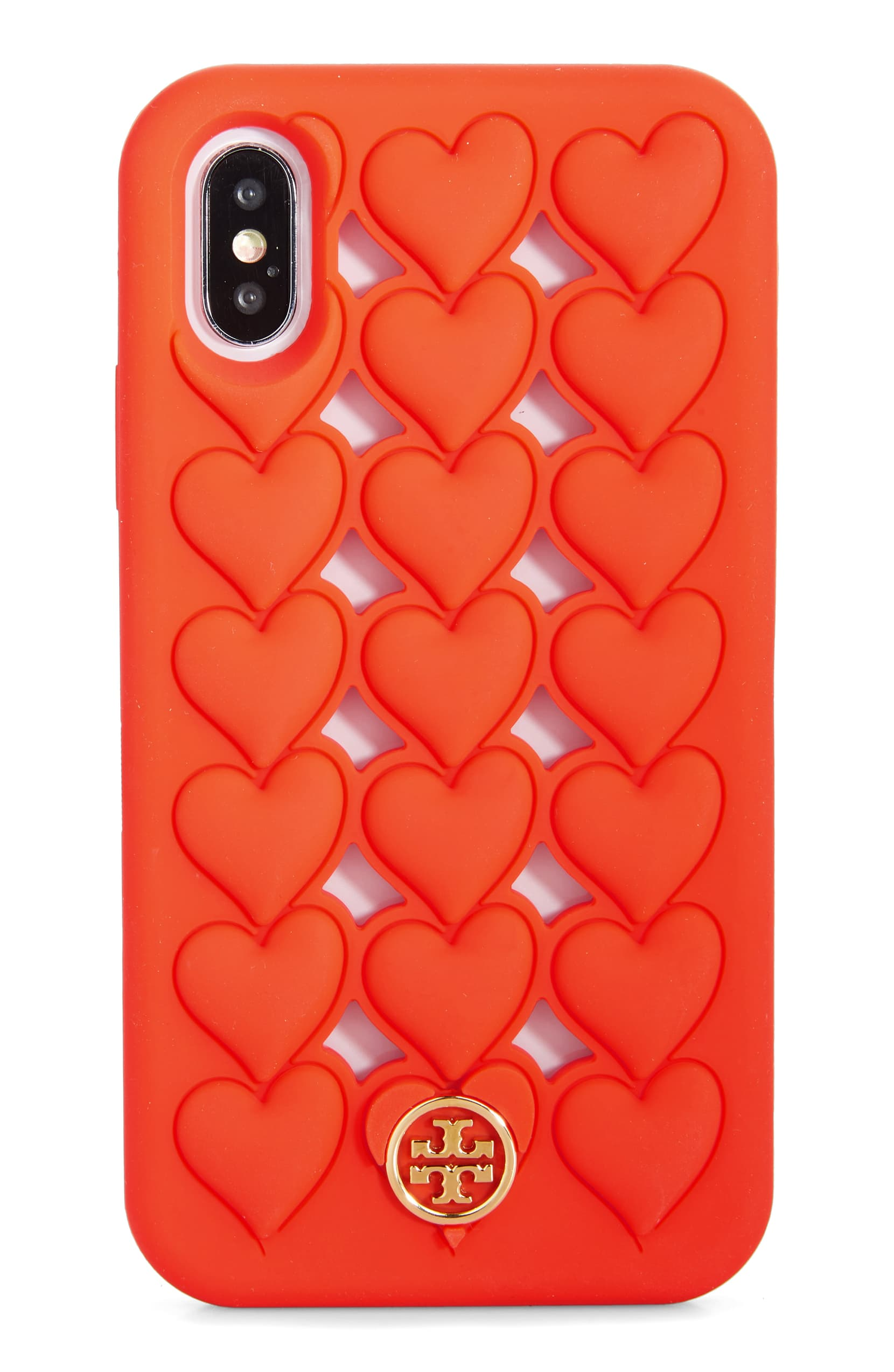 Show your iPhone some love with this flexible silicone case textured with puffy, dimensional hearts and branded with a signature stacked-T medallion. Shop it{ }- $98 (Image: Nordstrom){ }