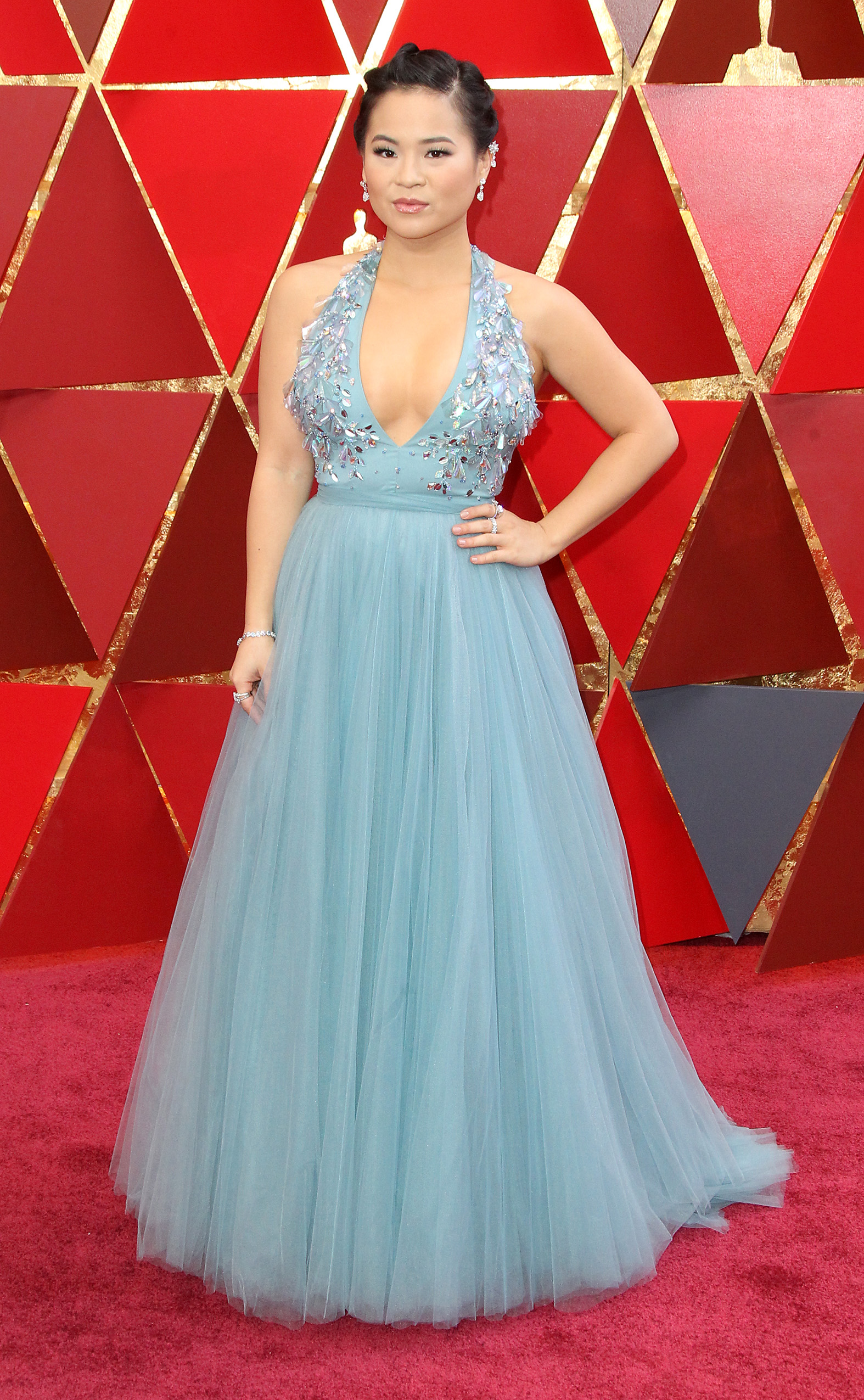Kelly Marie arrives at the 90th Annual Academy Awards (Oscars) held at the Dolby Theater in Hollywood, California. (Image: Adriana M. Barraza/WENN.com)<p></p>