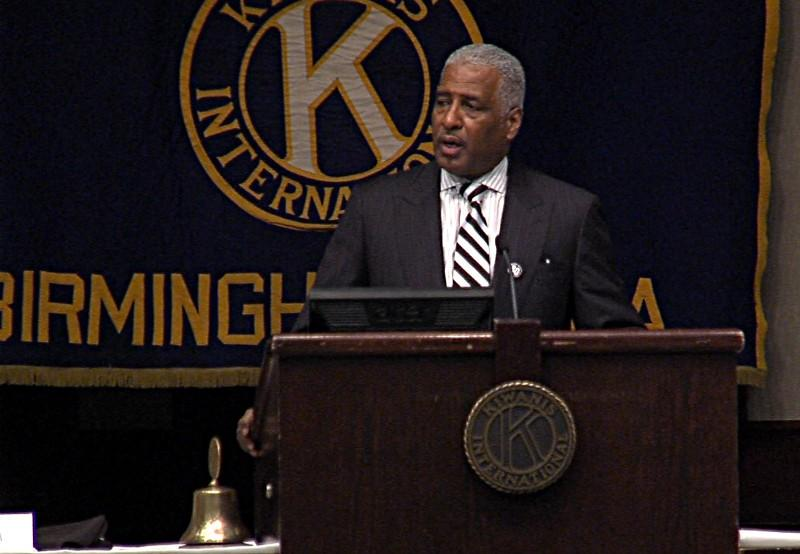 Mayor William Bell gives State of the City address on Tuesday, January 15, 2013.