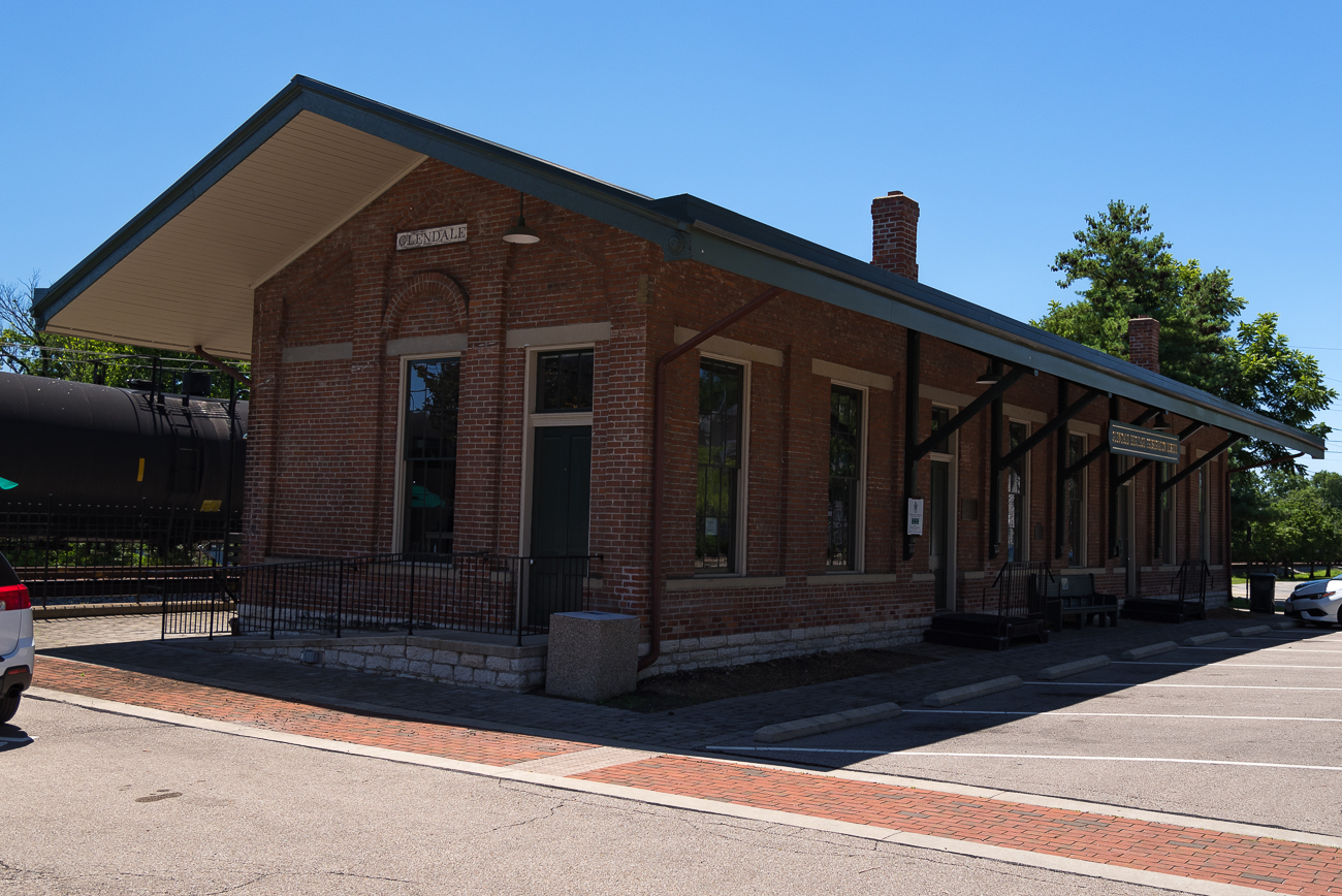 Commuter rail service was suspended in 1927. The station, however, continued to stand. It was acquired by the Village of Glendale in 1996 and renovations followed, transforming the landmark into a museum for the history of Glendale. The rails next to the station are still actively used for cargo trains. / Image: Phil Armstrong, Cincinnati Refined // Published: 7.9.18