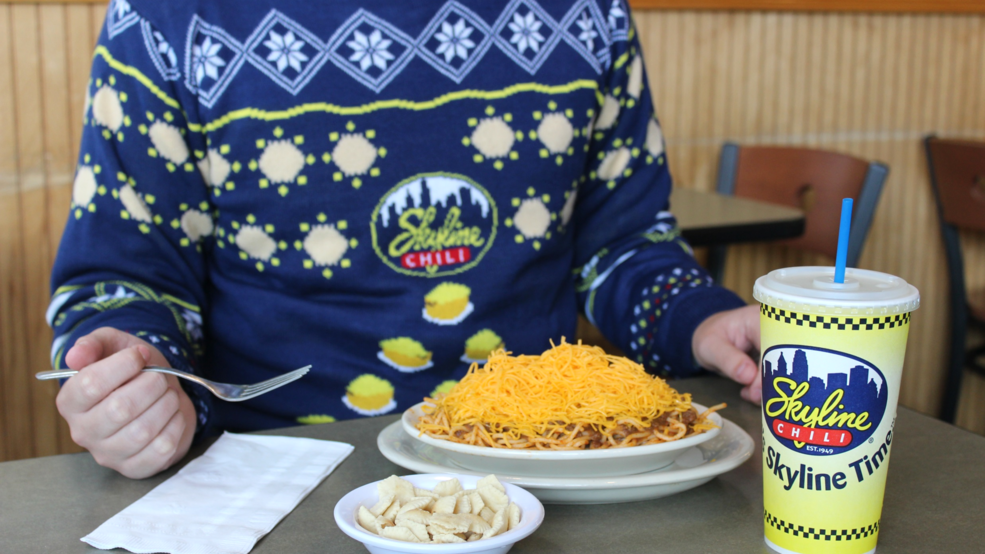You Can Win Yourself A Skyline Chili Ugly Christmas Sweater Wkrc