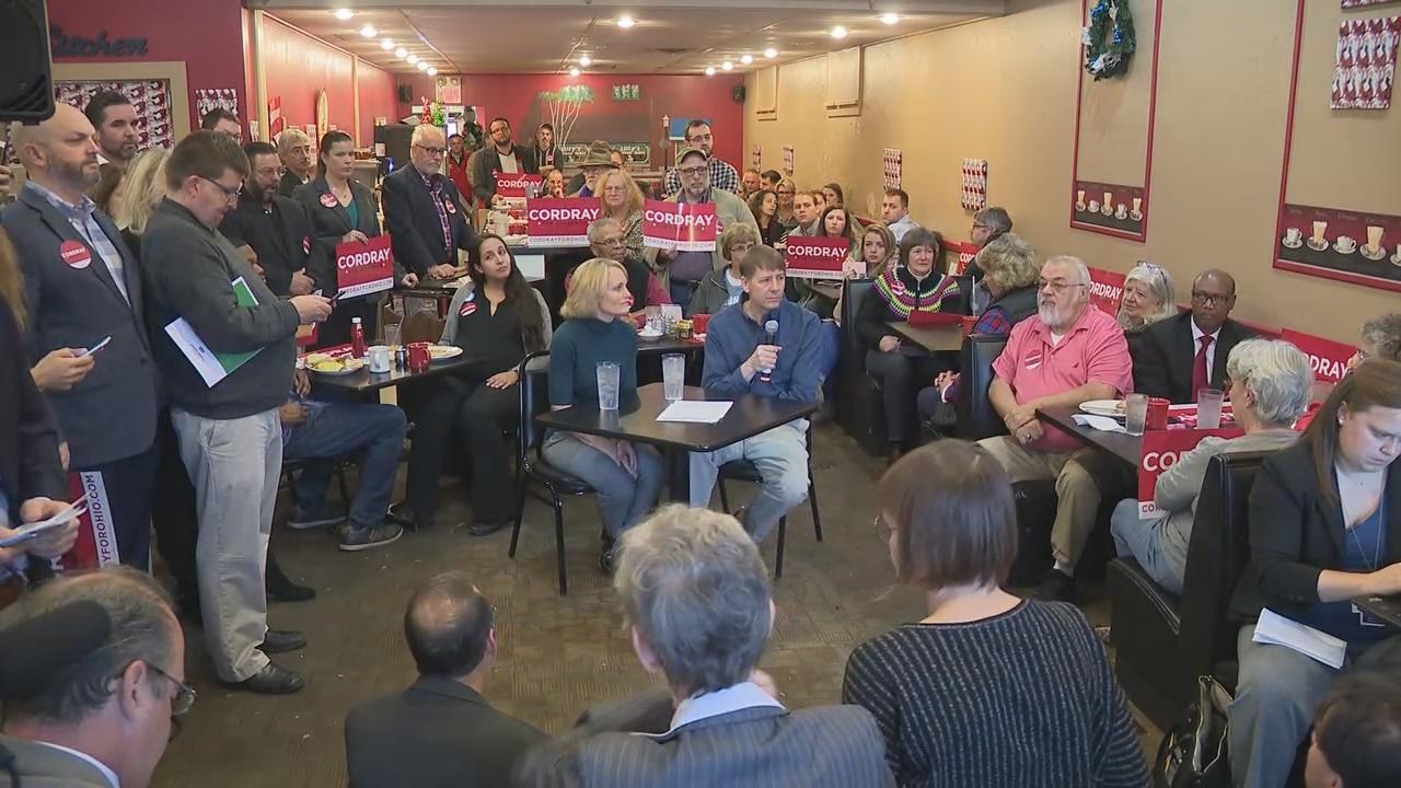 Richard Cordray announced his run for Governor as a Democratic candidate during an event at a diner in his hometown of Grove City (WSYX/WTTE)