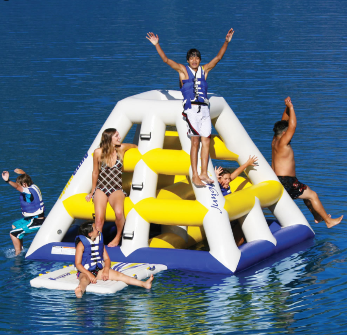 Floating Jungle Gym: This crafty inflatable monstrosity might be a little befuddling at first, but rest assured this is your one way ticket to a good time.  Up to six people can get up to monkey business on this labyrinth of a floatie. Buy it over at Hammachers site for a cool $2,000. (Photo: Courtesy Hammacher)