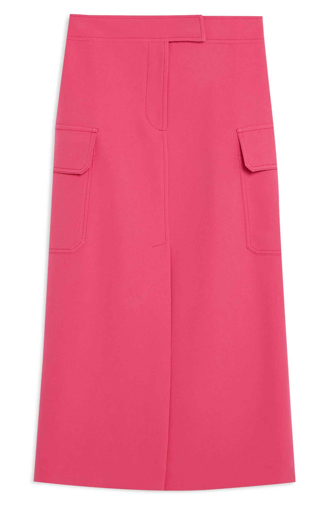 Topshop Split Utility Midi Skirt (normally $68): NOW $44.90 (Image: Nordstrom)
