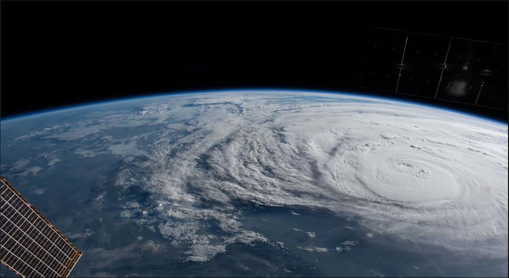 NASA captures Category 4 hurricane Harvey from the ISS. Photo: NASA