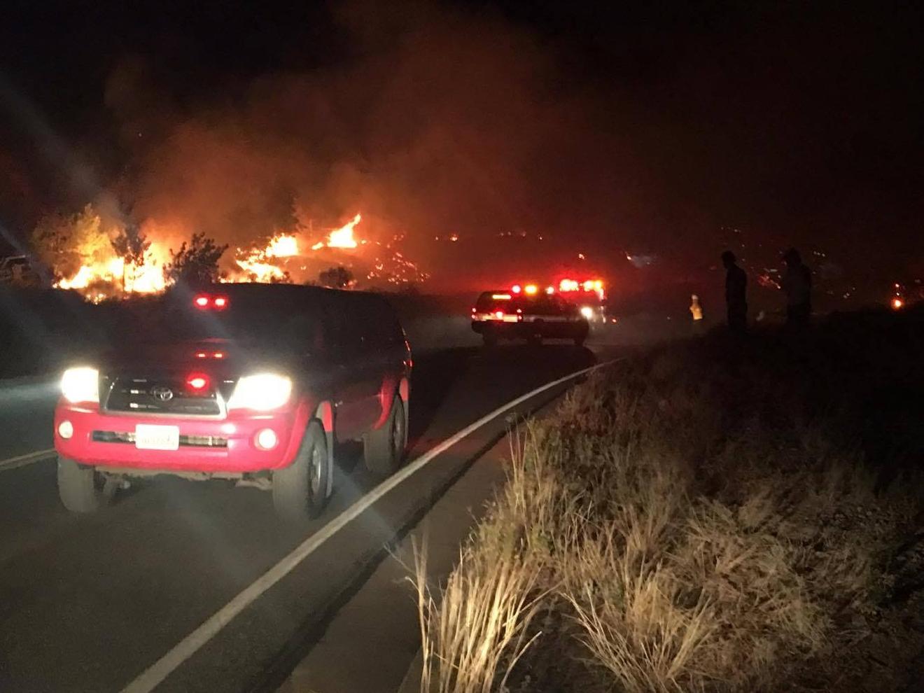 Dozens Homes Evacuated Overnight Fire Utah