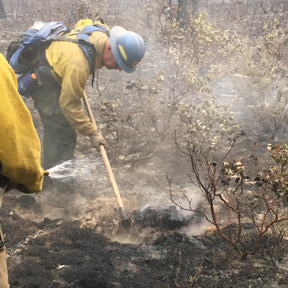 One of the blazes, later dubbed the McKay Fire, grew to 1,219 acres before being contained. (USDA Forest Service photo)