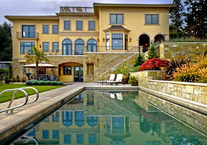 This Sammamish project was completed by Gelotte Hommas. The total project cost was $7 million.  (Image: Sammamish Tuscan / Porch.com)