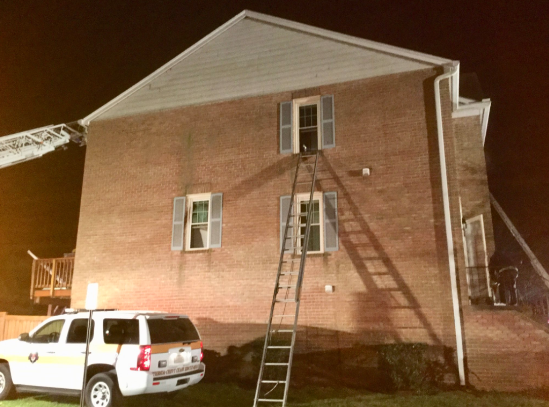 Woman rescued from Md. house fire, determined to be intentionally set, officials say . (Photo courtesy of MCFRS)