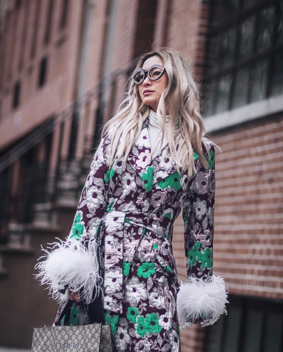 This look is so good, it deserved two photos. The clash of patterns is expertly done and feels effortless like a{&amp;nbsp;} true NYFW look.{&amp;nbsp;} (Image via @anchyi, photo by @n.c.sweet)<p></p>