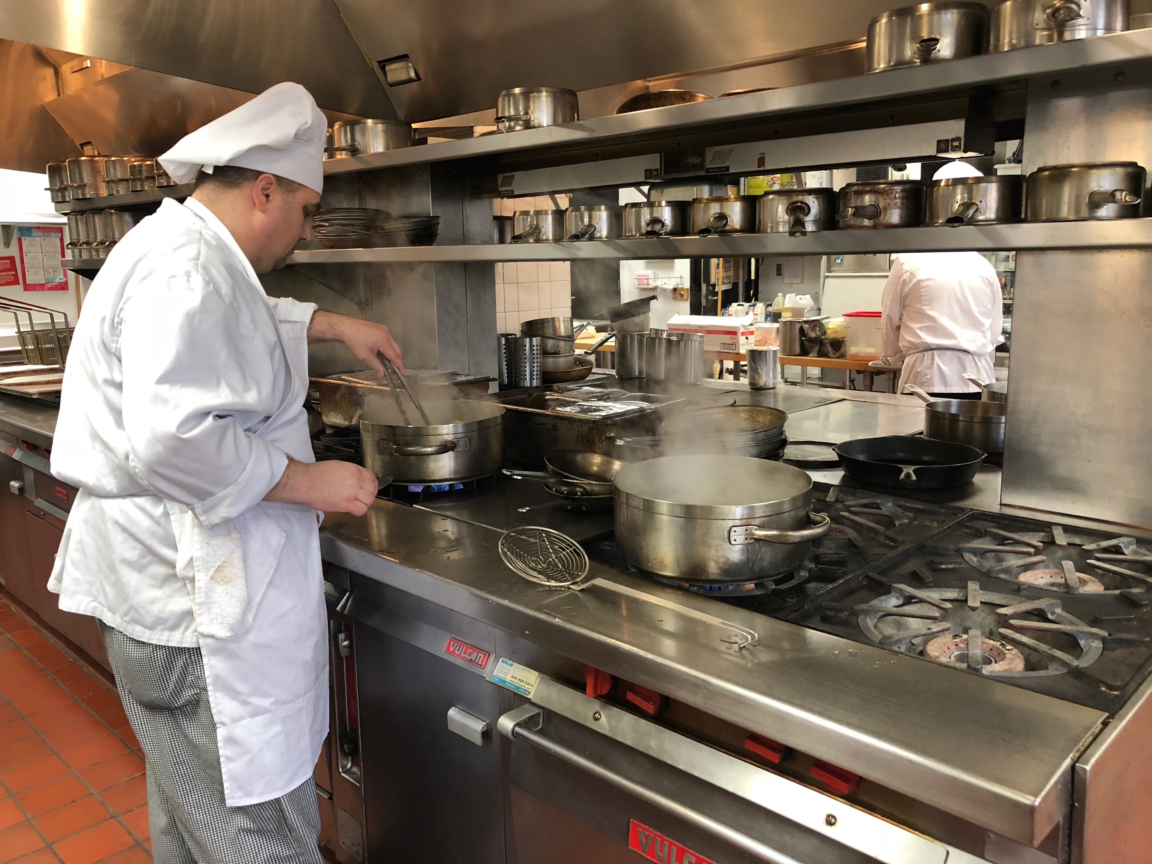 Chef David Wynne is Chef Instructor at Art Institute of Seattle's Portfolio Restaurant. He runs the kitchen here with military like precision - and a combination of toughness and TLC. Students get the opportunity to learn all about culinary arts from the kitchen to the restaurant. (Seattle Refined)<p></p><p></p>