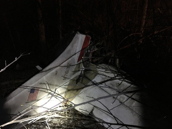A plane crashed and caught on fire Saturday night in Oldenburg. (ISP)