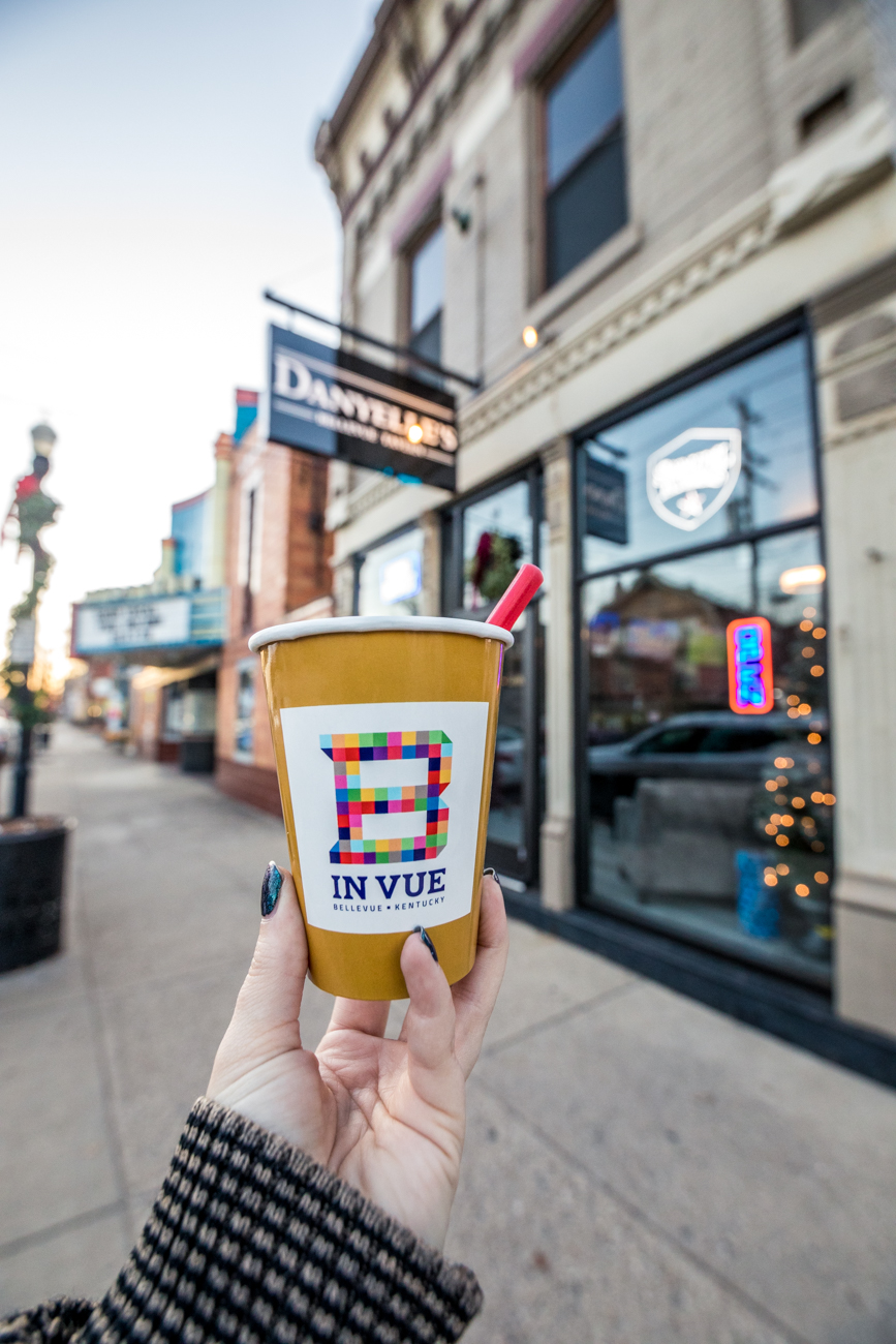 There are specific rules to abide by in the new district. Pedestrians can't just walk around with any beverage; they must purchase a 50-cent cup from participating establishments within the district. They can then fill the permitted cup and take it out onto Fairfield Avenue. Alcohol-carriers also aren't allowed to get into a car with the drink (of course) and they can't fill a drink outside of the district's boundaries and bring it into the area. The purpose of the entertainment district is to patronize the local businesses and enjoy their drinks on the go between establishments. / Pictured: Ampersand Home / Image: Catherine Viox // Published: 12.9.19