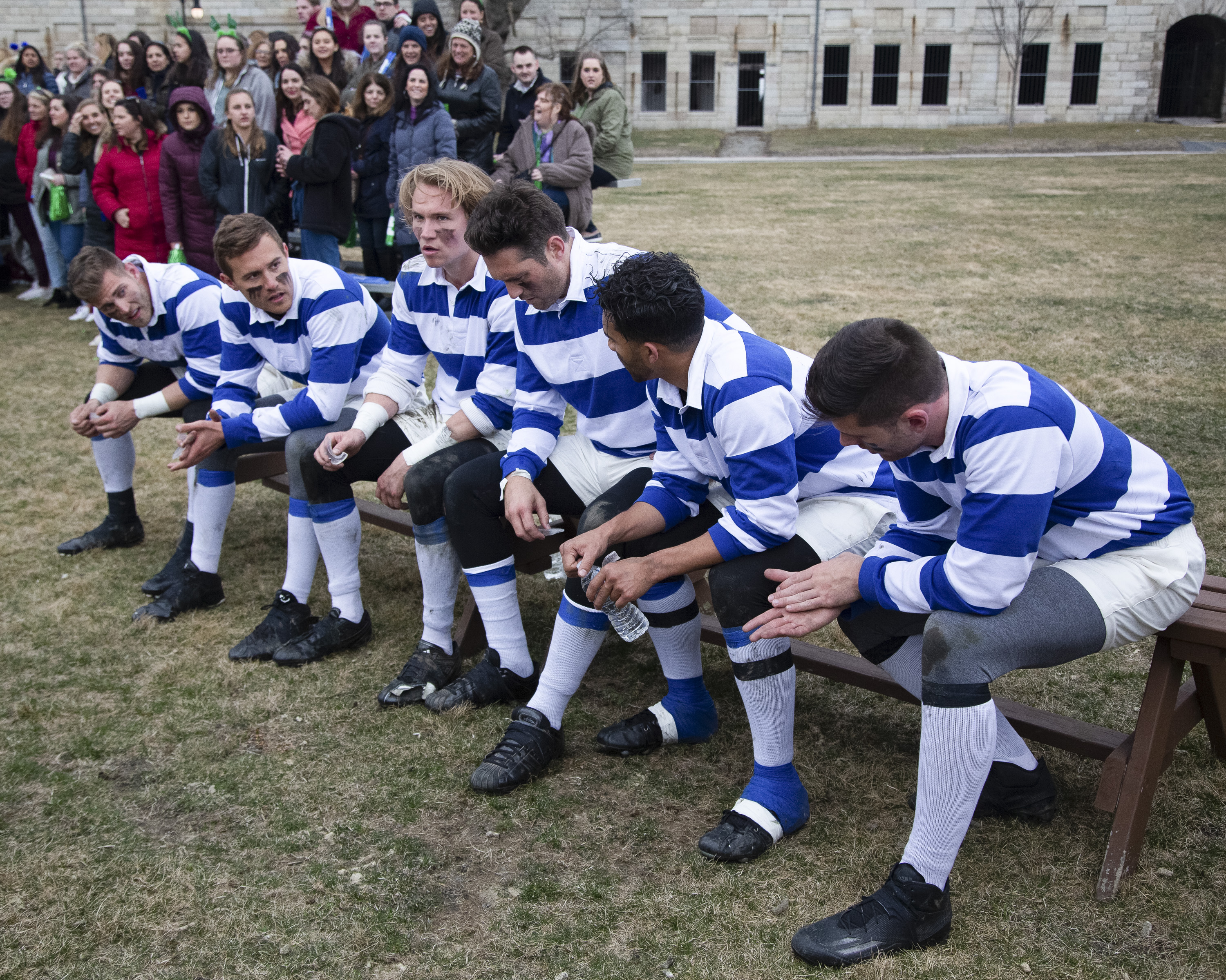 Hannah takes her journey to find love on the road as she and the remaining 15 men travel to Boston and the beautiful seaside city of Newport, Rhode Island. In Newport, 13 men get down and dirty, competing in a fierce but exciting rugby game at Fort Adam, home of the champion Newport Rugby Football Club, which sends one man to the hospital. Later that night, two men go head-to-head and Hannah is caught in the middle. Who is telling the truth? Will she follow her heart or her head? At an explosive cocktail party, two rivals take turns throwing each other under the bus, even as Hannah attempts to focus on her blossoming relationships. Will she keep both or will one make an early exit? (Image: Robert Clark/ ABC)