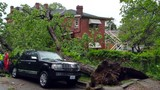 Strong winds damaged two cars in America's Hometown